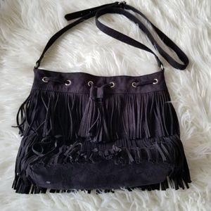 Express Fringe Crossbody Bag